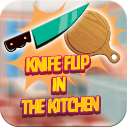 Knife Flip Challenge in the kitchen